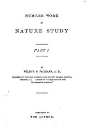 Cover of: Number work in nature study, part 1 | Wilbur S. Jackman