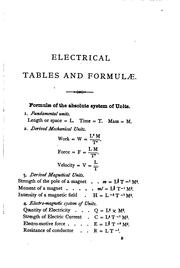 Cover of: Electrical tables and formulæ