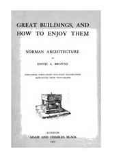 Cover of: Norman architecture | Edith A. Browne