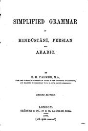 Cover of: Simplified grammar of Hindūstānī, Persian and Arabic
