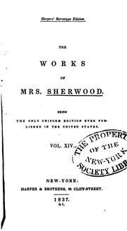Cover of: The works of Mrs. Sherwood