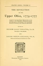 Cover of: The revolution on the upper Ohio, 1775-1777