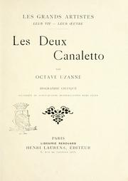 Cover of: Les deux Canaletto: biographie critique