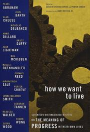 Cover of: How we want to live