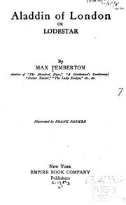 Cover of: Aladdin of London | Sir Max Pemberton