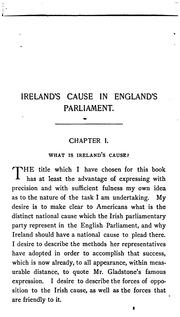 Cover of: Ireland's cause in England's Parliament