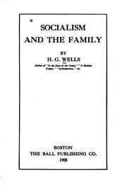 Cover of: Socialism and the family