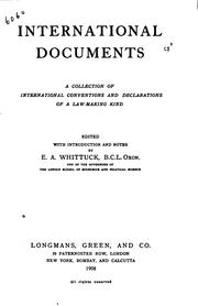 Cover of: International Documents