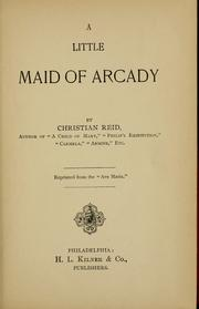 Cover of: A little maid of Arcady