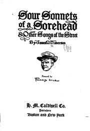 Cover of: Sour sonnets of a sorehead | James Percival Haverson