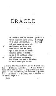 Cover of: Œuvres de Gautier d'Arras
