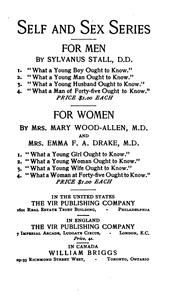 Cover of: What a young wife ought to know | Emma F. Angell Drake