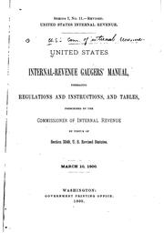 Cover of: United States internal-revenue gaugers