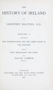 The history of Ireland by Geoffrey Keating