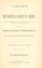Cover of: review of the political conflict in America | Harris, Alexander