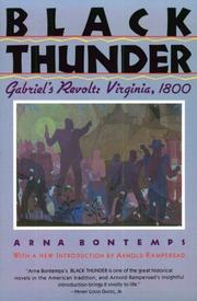 Black thunder by Arna Wendell Bontemps