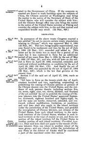 Cover of: A digest of the treaty, laws, and regulations governing the admission of Chinese, their residence in and transit through the United States and its insular possessions. | United States
