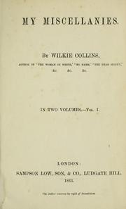 Cover of: My miscellanies