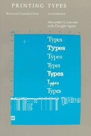 Cover of: Printing types | Alexander S. Lawson
