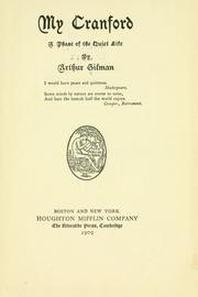 Cover of: My Cranford | Arthur Gilman