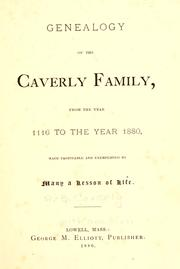 Cover of: Genealogy of the Caverly family
