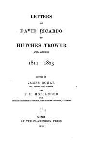 Cover of: Letters of David Ricardo to Hutches Trower and others, 1811-1823