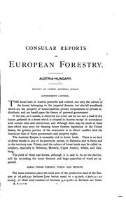 Cover of: Forestry in Europe. | United States. Department of State.