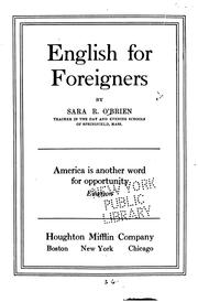 Cover of: English for foreigners | Sara Redempta O