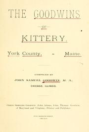The Goodwins of Kittery, York County, Maine.