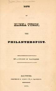 Cover of: Life of Elisha Tyson, the philanthropist. | John S. Tyson