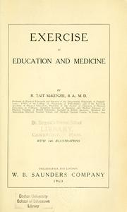 Cover of: Exercise in education and medicine
