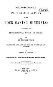 Cover of: Microscopical physiography of the rock-making minerals