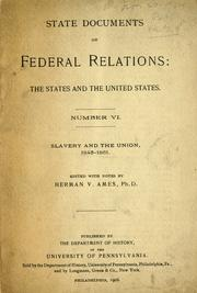 Cover of: State documents on Federal relations | Herman Vandenburg Ames