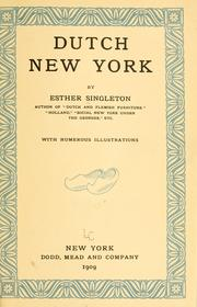 Cover of: Dutch New York | Esther Singleton