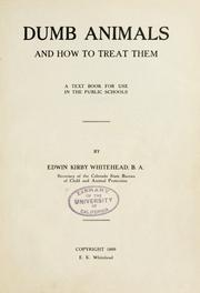 Cover of: Dumb animals and how to treat them | Edwin Kirby Whitehead
