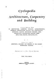 Cover of: Cyclopedia of architecture, carpentry and building | American School of Correspondence, Chicago.