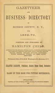 Cover of: Gazetteer and business directory of Monroe County, N.Y. for 1869-70