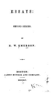 Cover of: Essays: Second Series by Ralph Waldo Emerson