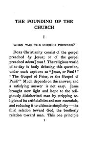 Cover of: The founding of the church | Benjamin Wisner Bacon