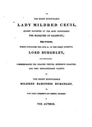Memoirs of the life and administration of the Right Honourable William Cecil, Lord Burghley by Edward Nares