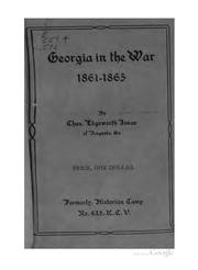 Georgia In The War 1861-1865 by Charles Edgeworth Jones
