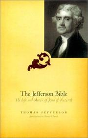 Cover of: The Jefferson Bible | Thomas Jefferson