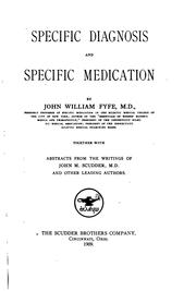 Cover of: Specific diagnosis and specific medication | John William Fyfe