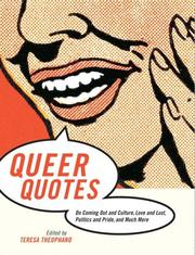 Cover of: Queer Quotes
