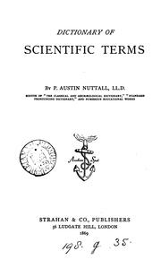 Cover of: Dictionary of scientific terms | P. Austin Nuttall