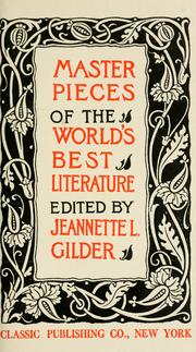Cover of: Masterpieces of the world's best literature