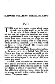 Cover of: Madame Tellier's establishment: and short stories