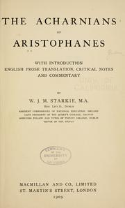 Acharnians by Aristophanes