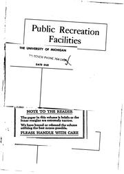 Cover of: Public recreation facilities