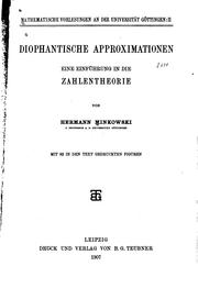 Cover of: Diophantische approximationen